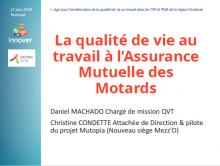 Diaporama La qualité de vie au travail à l'Assurance Mutuelle des Motards